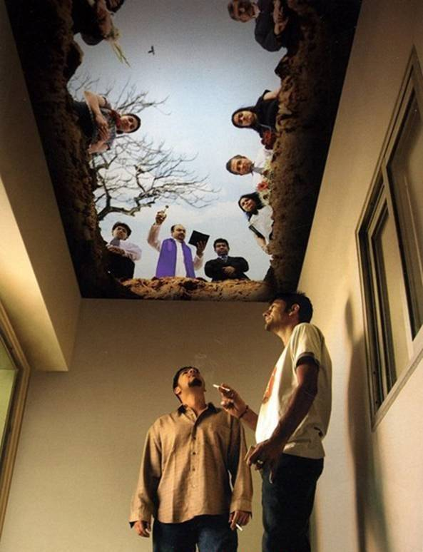 Your Decisions your Way ( Cieling of a Smoking Room)