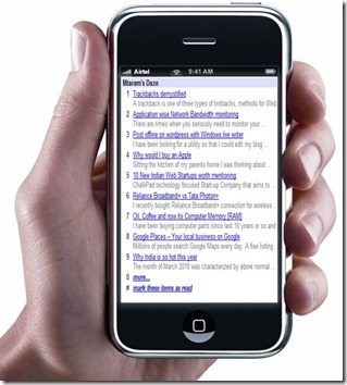 Make a mobile site for your blog in 3 steps with Google Reader